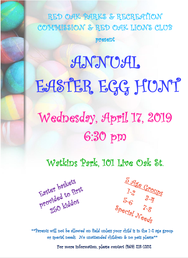 Easter Egg Hunt Flyer 2019